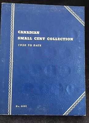 Lot Of Canadian Small Cents 1920-Present Album  - Some Coins Present