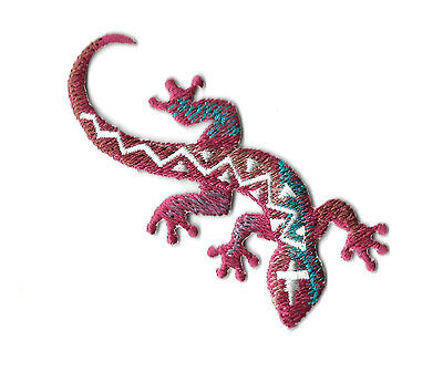 Gecko - Lizard - Southwest Design - Desert - Embroidered Iron On Patch