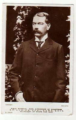 Antique 1915 RP Postcard Field Marshal Earl Kitchener Sec of State for War
