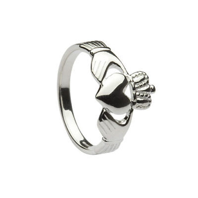 Lovely Ladies Irish Sterling Silver CLADDAGH Ring UK Size 7 - Crafted in Ireland