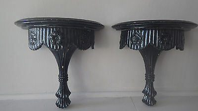 Antique Carved Architectural Balusters Victorian Wall Shelf Sconce Corbels