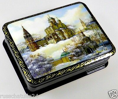 """Susdal"" Russische Lackmalerei Schatulle Russian lacquer box Fedoskino Lackdose"