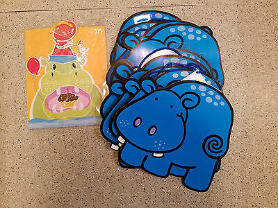 10 hippo shaped gift bags new and cute!