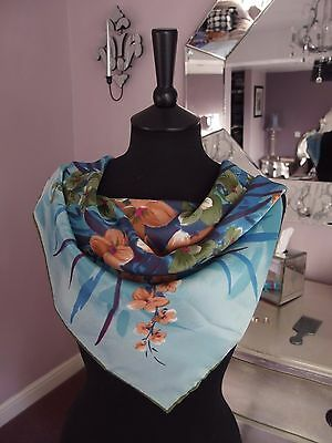 Vintage 1960s Scarf hand stitched hems by Cirro