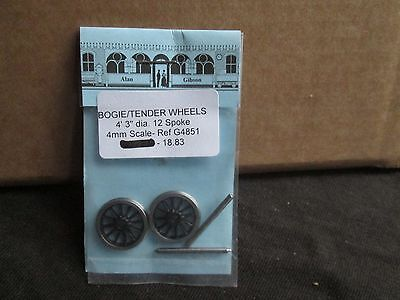 "Alan Gibson Bogie/tender Wheels 4`3"" Dia 12 Spoke New In Bag"
