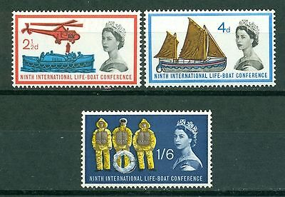 Great Britain Scott #395-397 MNH 9th Int'l Lifeboat Conference $$