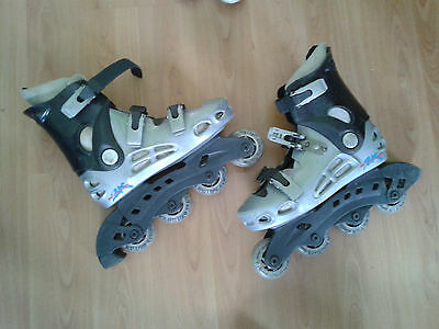 British Knights Grey In Line Skates Roller ..size 3-4 Great Look