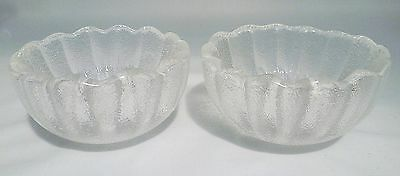 Dartington FT383 Crystal Daisy Gripfruit Grapefruit Bowls by Frank Thrower