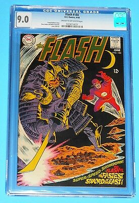The Flash #180 1968 CGC 9.0 Silver Age DC Comics vs.The Fastest Sword In The Eas