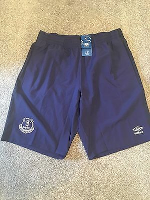 Official Everton FC Men's Training Long Woven Shorts Size XL