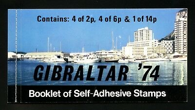 Gibraltar Scott #309a MNH Complete Booklet Post Boxes Mail Boxes CV$11+