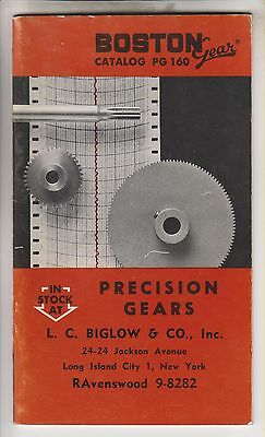 1960 Catalog Pg 160 - Boston Gear - Precision Gears