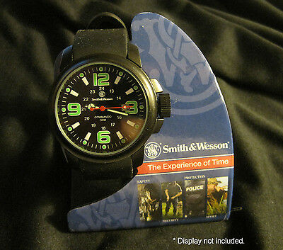 Smith & Wesson Commando Watch with Rubber Wrist Strap