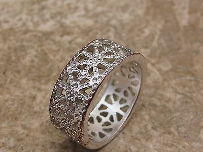 Vintage Ornate Band Ring See Photo For Size