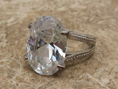 Vintage HUGE Stone Set Solitaire Ring See Photo For Size
