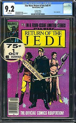 Star Wars Return of the Jedi #1 VARIANT 75 Cent Price Canadian CGC 9.2 Like 35/c