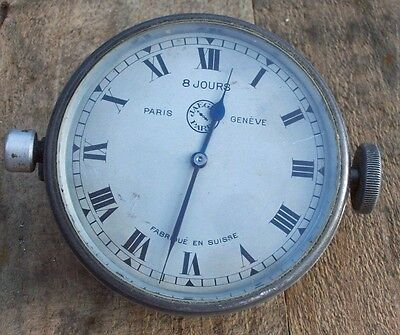 Genuine & Rare Vintage Jeager Car Clock Working