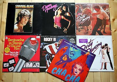 7 LP SAMMLUNG SOUNDTRACK OST FILMMUSIK rocky DIRTY DANCING cha cha STAYING ALIVE
