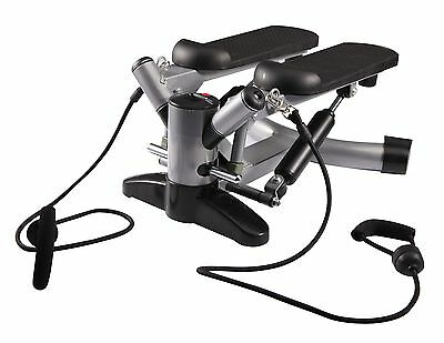 Live Up Exercise Twist Stepper with Power Bands and Digital Display