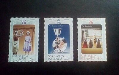 solomon islands Queens silver jubilee set 1977 MNH