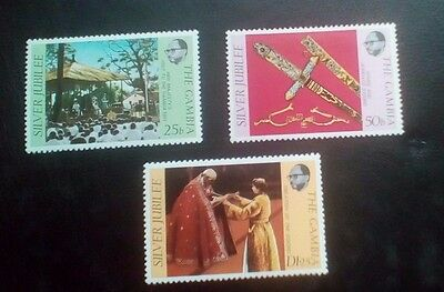Gambia Queens Silver Jubilee set 1977 MNH
