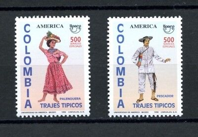 Colombia MNH Scott #1129-1130 America Issue Native Costumes