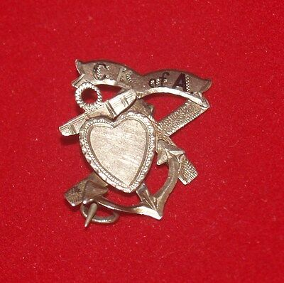Antique C.k. Of A. Gold Badge Pin Button Catholic Knights Of America