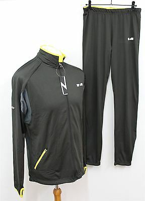 BNWT ZONDO Men's Charcoal Breathable Fabric Zip Front Tracksuit Top & Bottoms XL