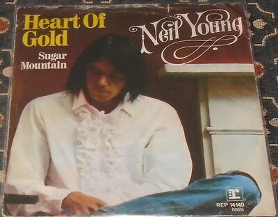 """Neil Young : Heart of Gold,7"""",im Bildcover"""