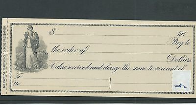 wbc. - CHEQUE - CH1082 -UNUSED -1910's- BLANK BILL of EXCHANGE,  USA