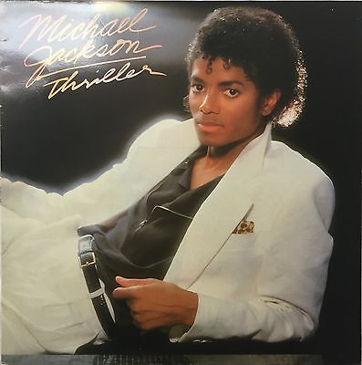 Michael Jackson Thriller UK Vinyl LP Misspelled Sleeve Ex/Ex EPC 85930