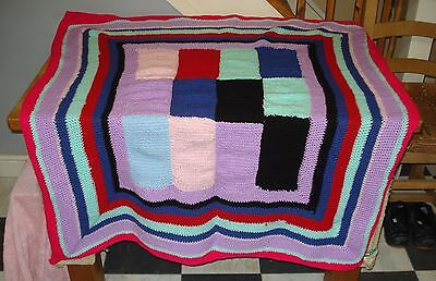 Pet Blanket Hand Knitted Approx 44 ins Square.