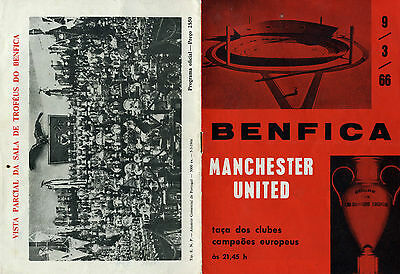 Benfica v Manchester United,  European Cup QF 2nd Leg  March 9th 1966