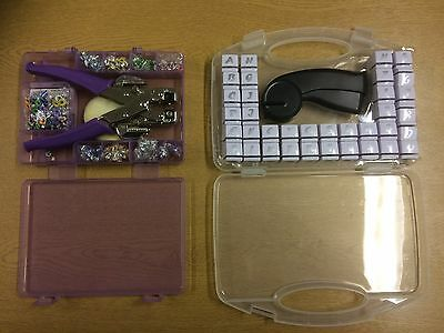 Crop a Dile Squeeze Tool Kit with Alphabet/Numbers Hand Punch Card Making Set