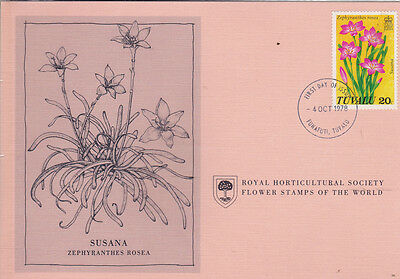 First Day Cover: TUVALU 1978 Royal Horticultural Society Flower Stamp!