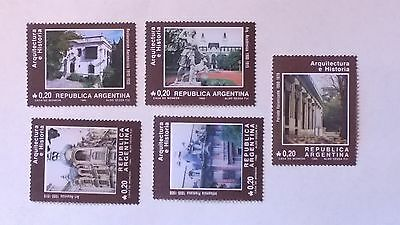 Argentina. B.A.Architecture. 1986 MNH Stamps SG 1974-1978
