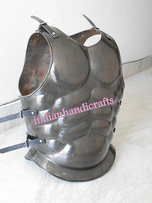 Roman Muscle Armor Black Finish Collectible Replica  Halloween Props