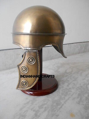 Replica Of Beautiful Hbo Rome Medival Helmet  In Brass Finish Props