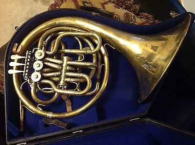 Lidl Compensator F/Bb Horn with Hard Case and Mouthpiece. Serviced & Cleaned Up.