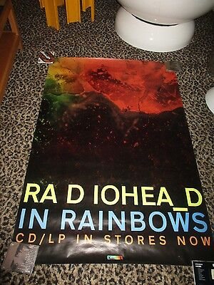"Original RADIOHEAD IN RAINBOWS Huge UNUSED 40 x 61"" Promo Only XL Records POSTER"