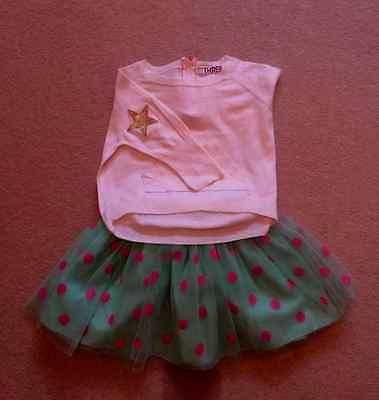 Fab and fun top and skirt outfit, 3-4 years