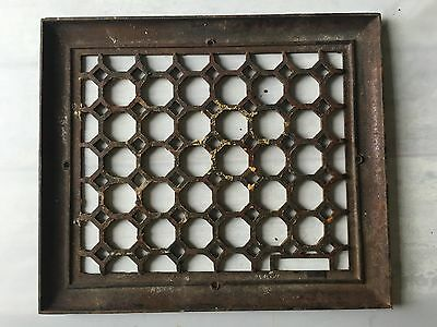 Vintage Cast Iron STEAMPUNK Victorian Heat Grate Floor Register 14 x 16 DECO