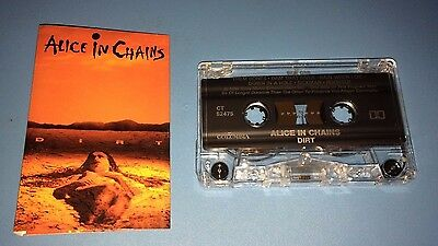 "Alice In Chains ""Dirt"" Cassette Tape (1992) Canada"