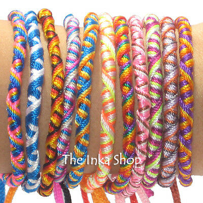 25 Twisted Friendship Bracelets Girls/Boy Party bag Pinata Filler Fundraising UK