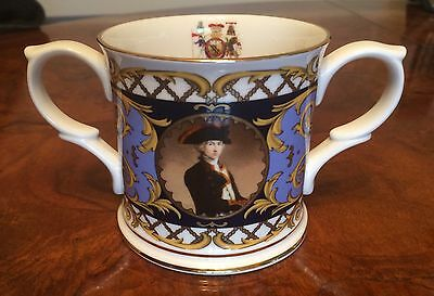 Lovely Nelson Commemorative Loving Cup In Bone China, Excellent Condition