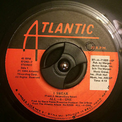 "All 4 One - I Swear 7"" Vinyl Listen"