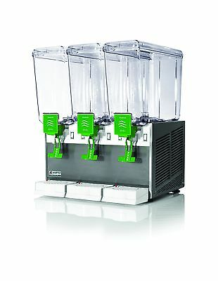 New Commercial Beverage Dispenser 3 tanks, 5 gal,All S/S Base,Made in Italy,NSF