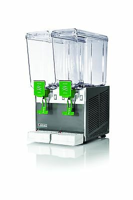 New Commercial Beverage Dispenser 2 tanks, 3 gal,All S/S Base,Made in Italy, NSF