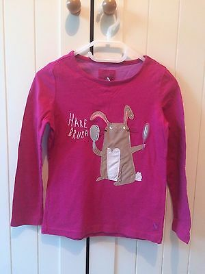 Joules long sleeve top with Hare, 5 years