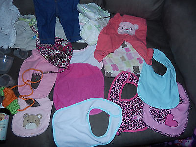 Huge Baby Clothing Lot- 0 To 6 Months, Mixed Bibs,more  Carters,etc
